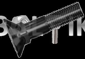 DIN 608 Болт з потайною головкою і квадратним підголовником ( без покриття )10.9