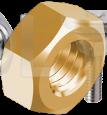 DIN 934 Гайка шестигранная (латунь)