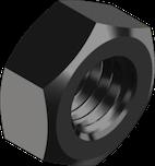 DIN 934 Гайка дрібний крок різьби (без покриття) 8