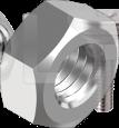 DIN 934 Гайка с мелким шагом резьбы (цинк белый) 8