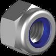 DIN 982 Гайка самоконтруюча дрібний крок  з пластиковим кільцем