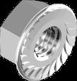 DIN 6923 Гайка з фланцем зубчаста (цинк білий) 8