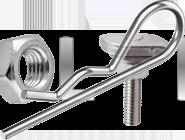 DIN 11024 Шплінт пружинний R-подібний голчастий (AN 75)