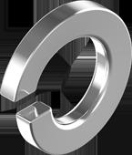 DIN 127 Шайба пружинная Покрытие (цинк белый)
