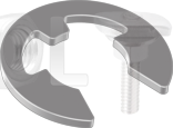 DIN 6799 Шайба упорная быстросъёмная, стопорная для вала (цинк белый)