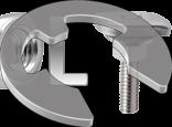 DIN 6799 Шайба упорна швидкознімна, стопорна для вала (цинк білий)