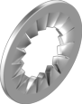 DIN 6798J Шайба стопорная с наружными зубьями (цинк белый)