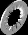 DIN 6798J Шайба стопорна з зовнішніми зубцями (цинк білий)