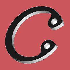 DIN 472 Кольцо упорное внутреннее для отверстия (без покрытия)