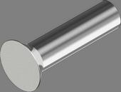 DIN 661 Заклепки забивные с потайной головкой (алюминий)
