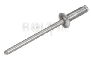 ISO 15981 Заклепка AL/AL з плоскою головкою (алюміній)