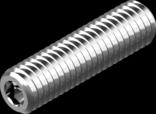 DIN 913 (ISO 4026)- винт установочный (цинк белый)