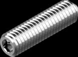 DIN 914  (ISO 4027)- винт установочный с острым концом (цинк белый)