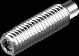 DIN 915 - гвинт установчий з цапфою (цинк білий)