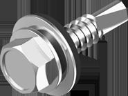 DIN 7504К Винт самосверлящий (TEX) + шайба EPDM (для металла)