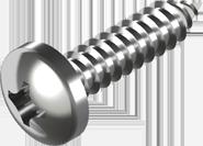 DIN 7981 Саморез (оксид) по металлу с закругленной цилиндрической головкой