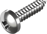 DIN 7981 Саморез А2 (PH) по металлу с закругленной цилиндрической головкой
