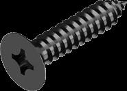 DIN 7982 Саморіз по металу з потайною головкою (цинк чорний)