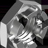 DIN 937 Гайка корончата прорізна низька оцинкована