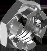 DIN 937 Гайка корончата прорізна низька, з дрібним кроком різьби