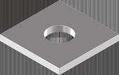 DIN 436 Шайба квадратна