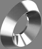CK 9255 Шайба (розетка) суцільнометалева з нержавіючої сталі