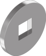 DIN 440V Шайба плоска збільшена з квадратним отвором