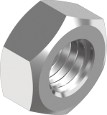 DIN 934 Гайка шестигранная левая резьба (цинк белый) 8