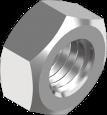 DIN 934  Гайка шестигранна з дрібним кроком ліва різьба (цинк білий) 8