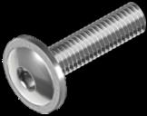 ISO 7380 Гвинт напівкругла головка з буртиком Цинк