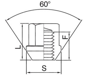Секретки гайки М14х1,5 SICUBLOC конус ключ 19
