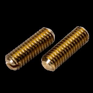 DIN 551 (ISO 4766)  - установочный винт с прямым шлицем и плоским концом латунь