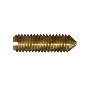 DIN 553 (ISO 7434)- гвинт з прямим шліцом і конусним конічним кінцем мідь