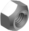 DIN 980V Гайка самостопорящаяся (цинк белый) Мелкая резьба клас 10