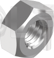 DIN 934 Гайка шестигранная дрібний крок (цинк білий) 10