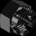 DIN 935 Гайка корончата, з дрібним кроком різьби